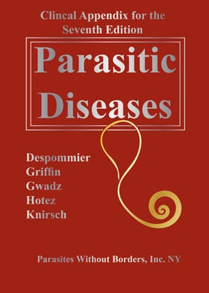 """Book cover """"Clinical Appendix for Parasitic Diseases 7th Edition"""""""