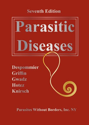 """Book cover """"Clinical Appendix for the Seventh Edition of Parasitic Diseases"""""""