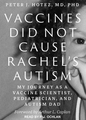 """Book cover """"Vaccines Did Not Cause Rachel's Autism"""""""
