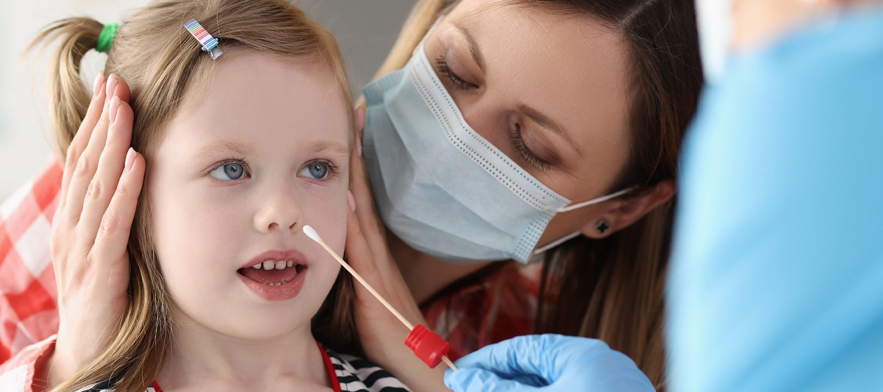 Child Tested for COVID-19 with Swab Nasal Swab